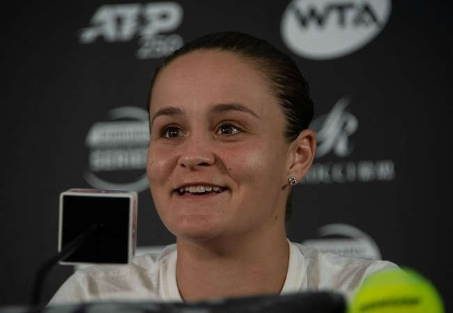Ashleigh Barty during a press conference as seen in January 2019