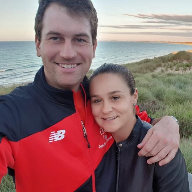 Ashleigh Barty with her boyfriend as seen in November 2018