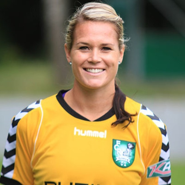 Ashlyn Harris as seen in August 2012