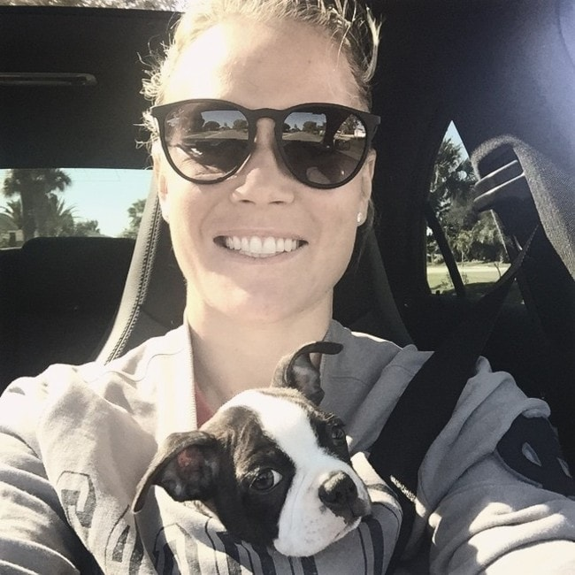 Ashlyn Harris as seen in January 2015