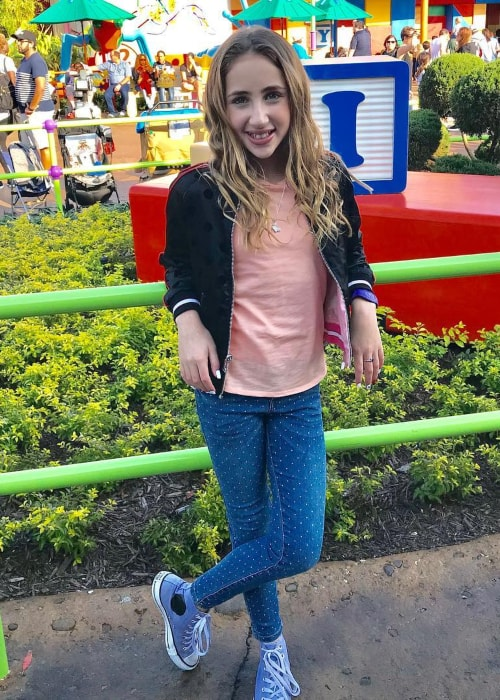 Ava Kolker as seen in a picture taken in Toy Story Land at the Walt Disney Studios Park in February 2019