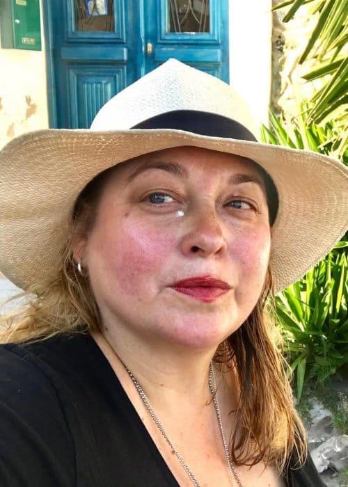 Beatie Edney in a selfie as seen in July 2018