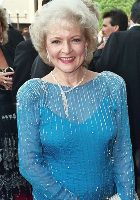 Betty White as seen at the Emmy Awards in August 1988