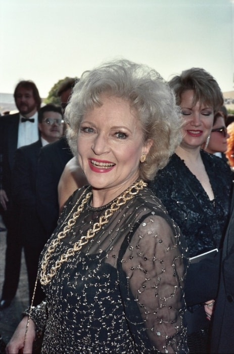 Betty White as seen at the Emmy Awards in September 1989