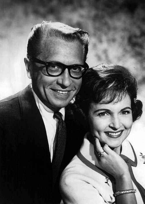 Betty White as seen with her late husband Allen Ludden appearing in a play in Ogunquit, Maine in June 1968