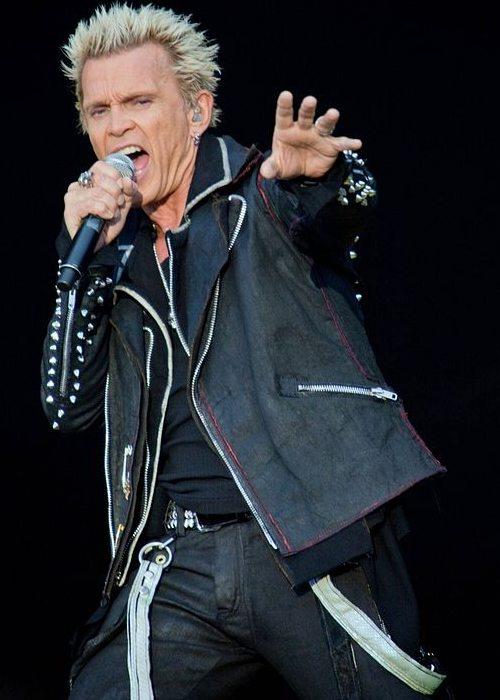 Billy Idol during a performance at the Peace And Love Festival in June 2012