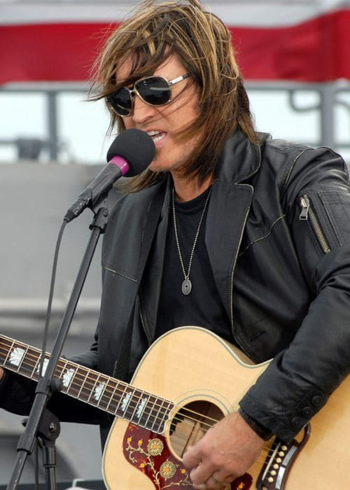 Billy Ray Cyrus during a performance as seen in April 2008