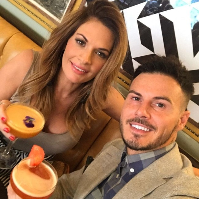 Billy Wingrove with his wife Katie as seen in June 2019