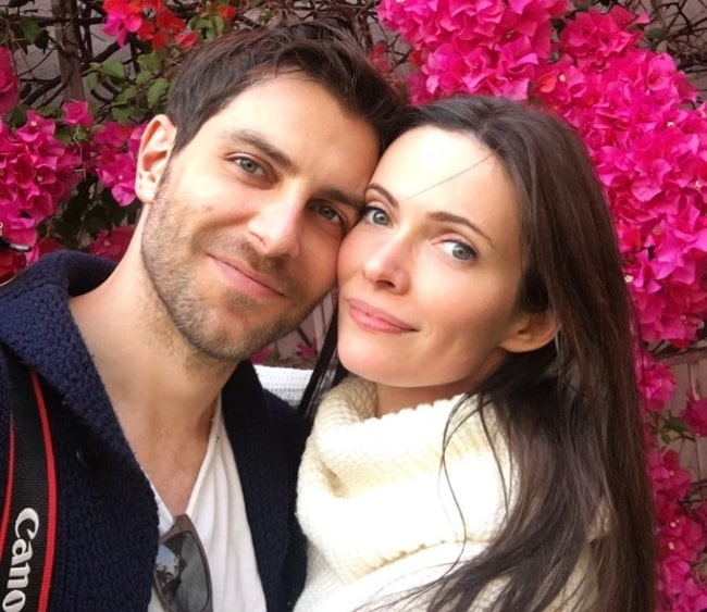 Bitsie Tulloch as seen while posing for a selfie with David Giuntoli in December 2018