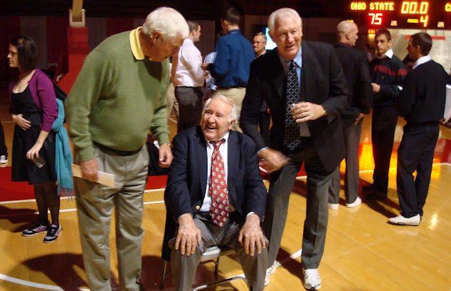 Bob Knight (Left), Frank Truitt (Center), and John Havlicek (Right) as seen in August 2012