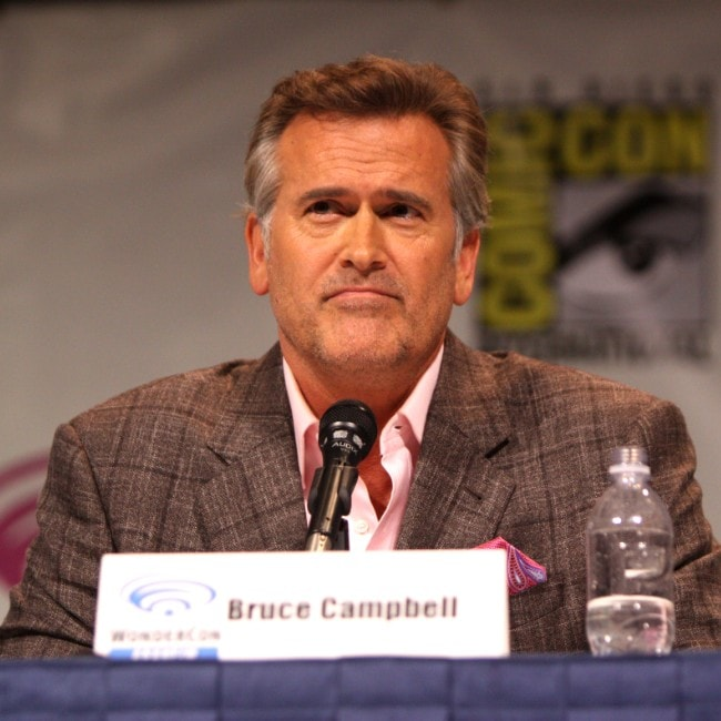 Bruce Campbell as seen in March 2013 attending WonderCon at Anaheim Convention Center, Anaheim, California