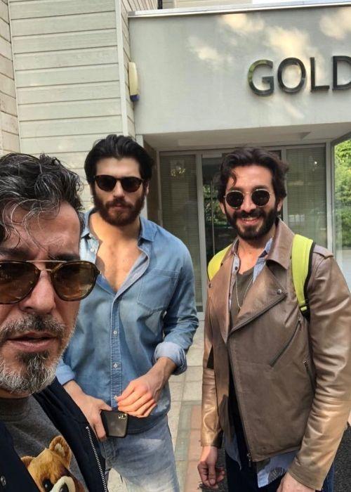 Can appearing in an Instagram selfie with Cuneyt Sayil and Ilker Bilgi in May 2018