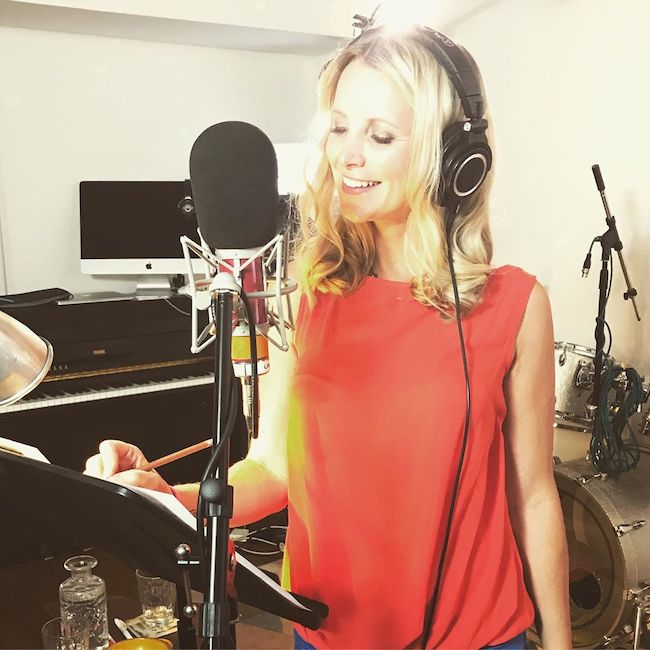 Carley Stenson inside the Recording Studio in July 2019