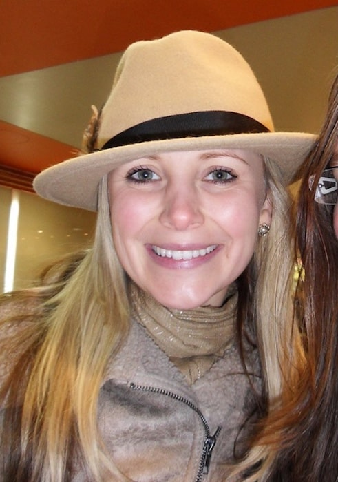 Carley Stenson with her fan Sarah Winterman in 2011