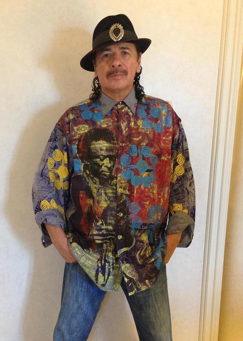 Carlos Santana poses for a picture as seen in 2012