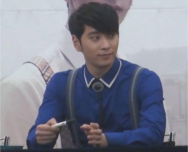 Chansung as seen at a fan sign event in May 2013