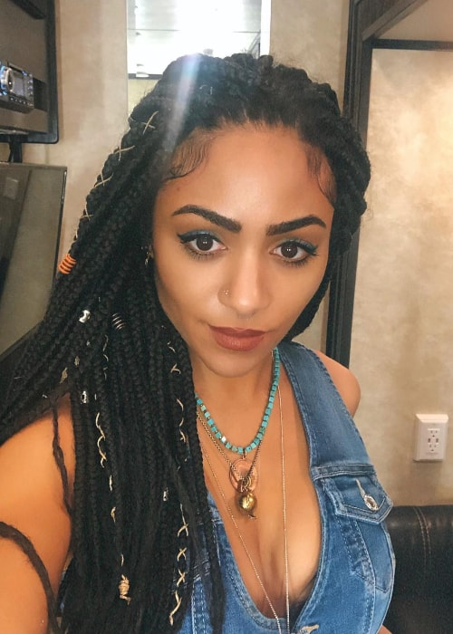 Chelsea Royce Tavares as seen in a selfie taken on the set of Queen of the South in March 2019