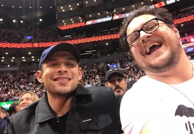 David Castañeda (Left) and Cameron Britton in a selfie as seen in March 2019