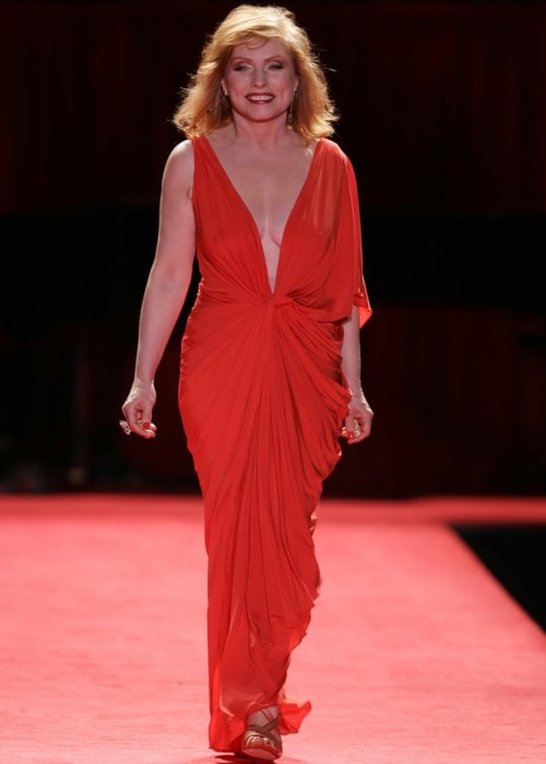 Debbie Harry as seen in a picture taken while modeling in The Heart Truth's Red Dress Collections at New York's Fashion Week in 2006
