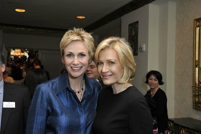 Diane Sawyer (Right) and Jane Lynch as seen in May 2010