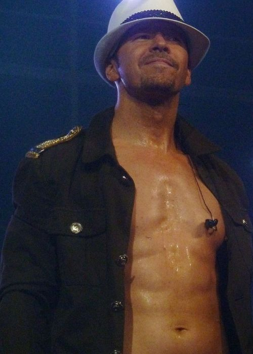 Donnie Wahlberg on stage during a show with NKOTBSB at the Wells Fargo Center in Philadelphia