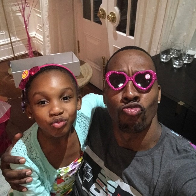 Dwight Howard with his daughter as seen in July 2017