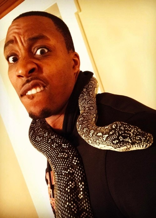 Dwight Howard with his pet snake as seen in February 2017