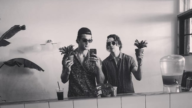 Dylan Arnold as seen while posing for a mirror selfie with Zak Steiner (Left) in August 2018