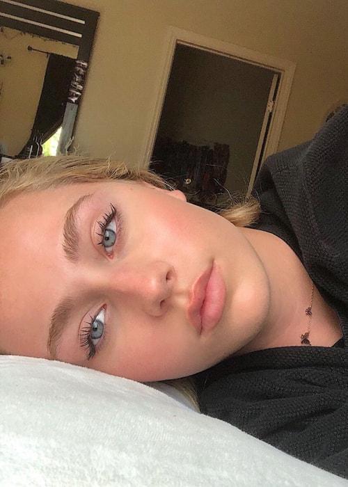 Eden McCoy as seen in a selfie taken in June 2019