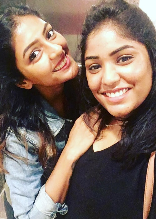 Eesha Rebba as seen in a selfie taken with her sister in July 2017