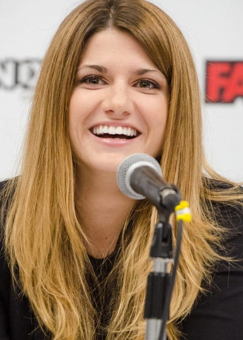 Elise Bauman during an event as seen in September 2017