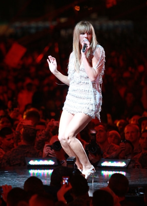 Grace Potter as seen while performing for service members during the 2010 VH1 Divas Salute the Troops concert at Marine Corps Air Station Miramar in San Diego, California, United States