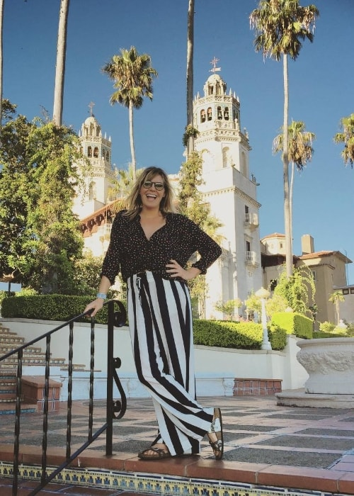 Grace Potter as seen while posing for the camera at the Hearst Castle located in California, United States in August 2017