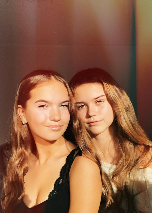 Hanna Elisabeth as seen in a selfie with her best friend Tik Tok star Sara Camilla taken in September 2018