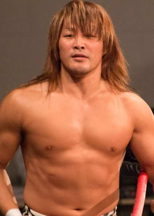 Hiroshi Tanahashi at Border City Wrestling's East Meets West show in May 2014