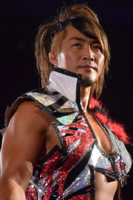 Hiroshi Tanahashi during a match as seen in August 2016