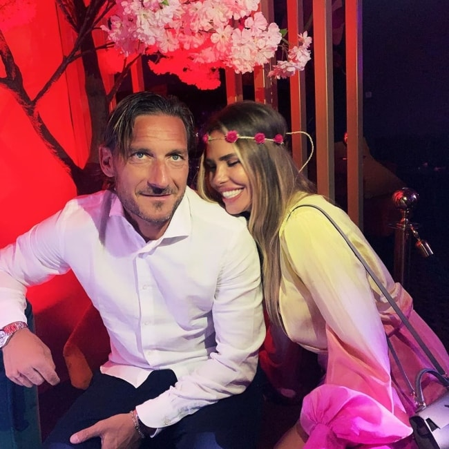 Ilary Blasi as seen with Francesco Totti in June 2019