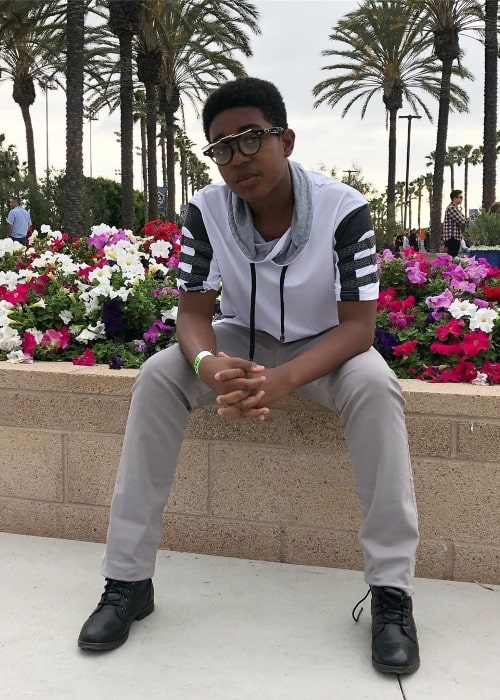 Issac Ryan Brown as seen while posing for the camera in June 2019