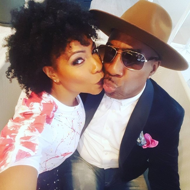J.B Smoove with his wife as seen in February 2017