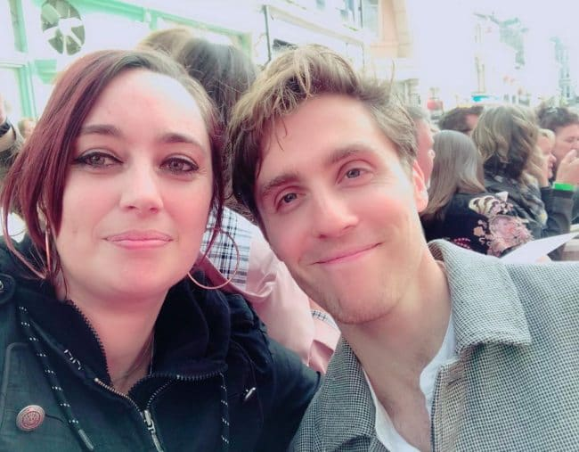 Jack Farthing and Betty G in a selfie in June 2019