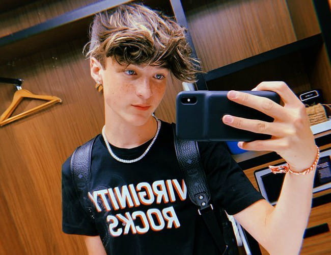 Jackson Felt in a selfie in June 2019
