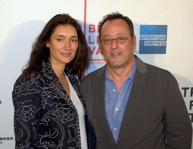 Jean Reno attending the Tribeca Film Festival with wife Zofia Borucka in 2010