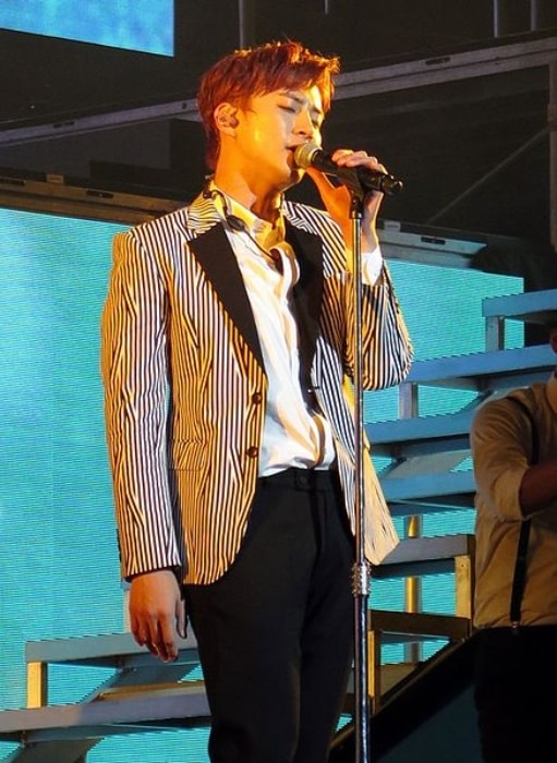 Junho as seen at the Go Crazy World Tour in United States in November 2014