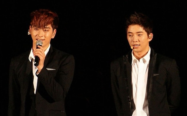 Junho as seen with Chansung in August 2011