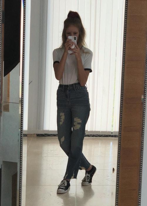 KarinaOMG as seen in a selfie taken in March 2019