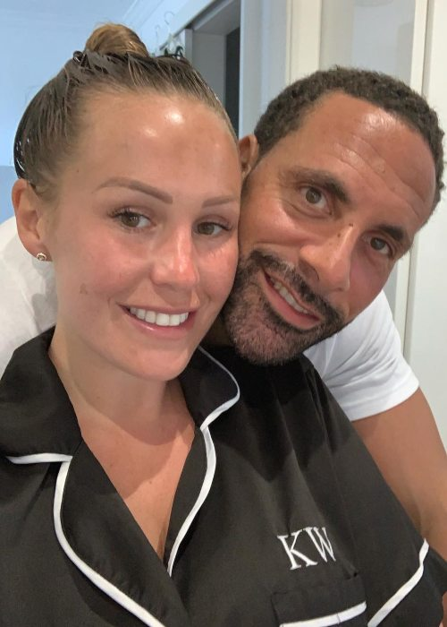 Kate Wright and Rio Ferdinand in a selfie in April 2019