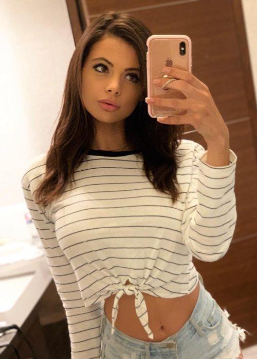 Katie Bell in a selfie in September 2018