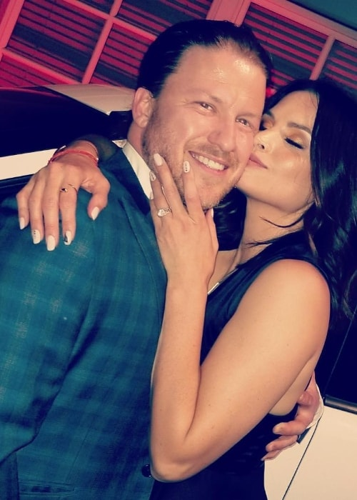 Katrina Law as seen while posing for a loved-up picture with husband Keith Andreen