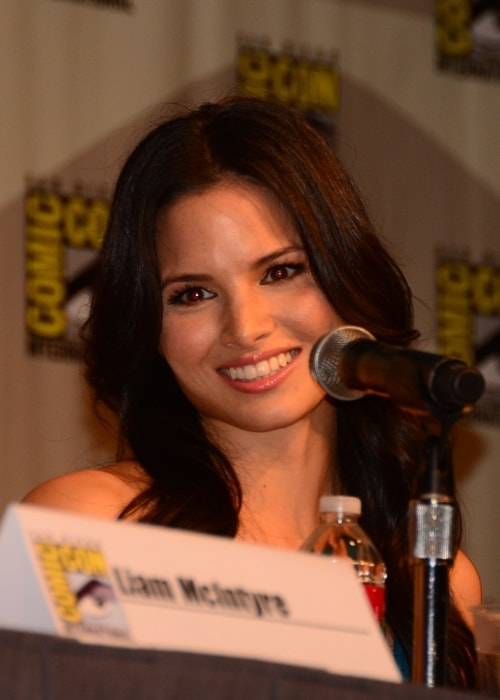Katrina Law as seen while smiling during Comic-Con 2012