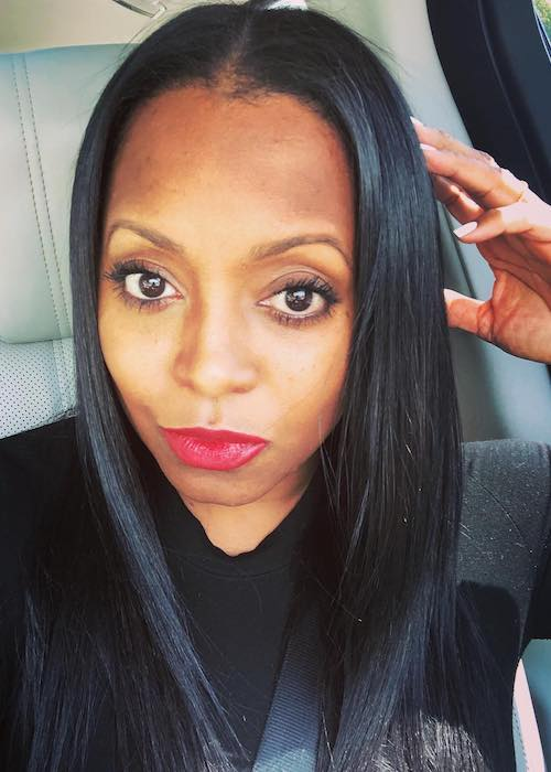 Keshia Knight Pulliam in a car selfie in April 2019